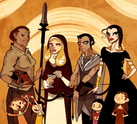 Artist's rendition of Sand Snakes.
